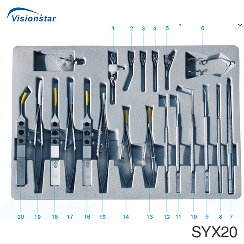 SYX20 Micro Instrument Set For Cataract Intraocular Lens Implantation Surgical