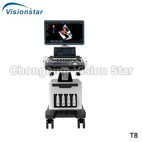 T8 4D Echo Color Doppler Trolley Ultrasound Machine