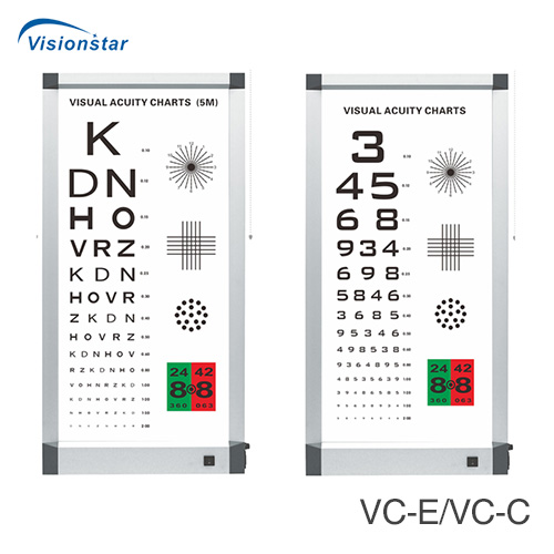 VC-E and VC-C Visual aculty charts