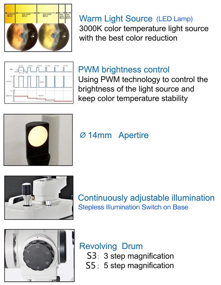 S5 Slit Lamp (Five Magnification)